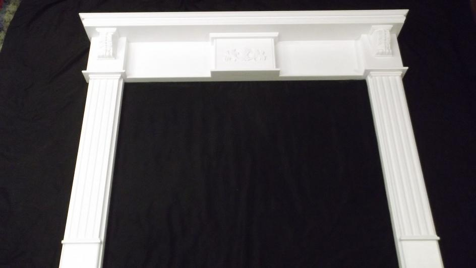 corbel fireplace mantel surround for gas wood fire place